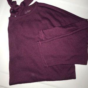 Loft boxy tie back detail sweater